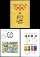 Germany Sc# B485-B490 Used In Folder 1972 Munich Olympics - Usados