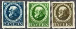 Germany Bavaria Sc# 112-114 MH 1914-1920 5m-10m King Ludwig III - Beieren
