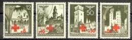 Poland Occupation Sc# NB1-NB4 Used 1940 Semi-Postals - 1939-44: 2ème Guerre Mondiale