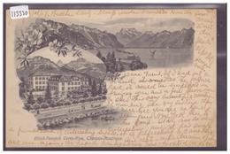 DISTRICT DE VEVEY - CLARENS MONTREUX - HOTEL PENSION VERTE RIVE - TB - VD Vaud