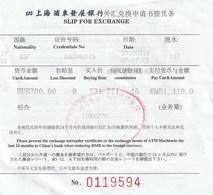 CHINA - SLIP FOR EXCHANGE 2018 03 19 - Facturas & Documentos Mercantiles