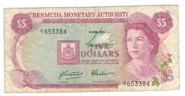 Bermuda  5 Dollars ,1978. F+. - Bermudas