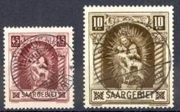 Saar Sc# 118-119 Used 1925 Madonna Of Blieskastel - Used Stamps
