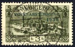 Saar Sc# 152 Used 1934 3fr Plebiscite Issue - Used Stamps