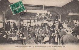 """Paris 3éme  1920  Maison Commune C.G.T. """" Salle Restaurant """"après Défilé  49 Rue De Bretagne - Syndicats"""