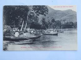 C. P. A. : Iles Sous Le Vent De TAHITI : HUAHINE : Régates (14 Juillet), Equipes De Femmes Se Préparant Au Départ - Tahiti