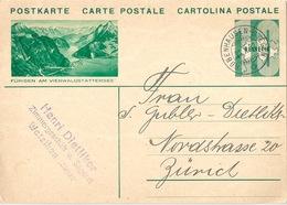 """PK 128  """"Fürigen Am Vierwaldstättersee""""             1932 - Interi Postali"""