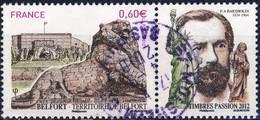4697   Le LION De BELFORT De BARTHOLDI  OBLITERE ANNEE 2012 - Oblitérés