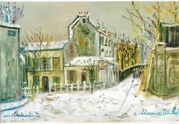Utrillo Le Lapin Agile Et La Rue Saint Vincent (2 Scans) - Paintings