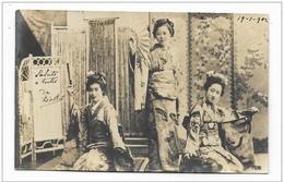 DONNE GEISHE 1902  VIAGGIATA FP - Femmes
