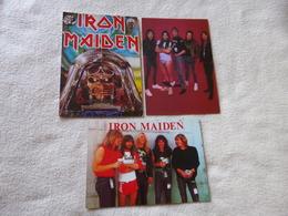 LOT DE 3 CARTES DU GROUPE IRON MAIDEN - Música Y Músicos
