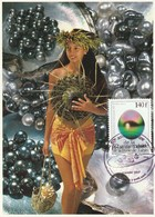 Carte Maximum 50 Anniversaire De La Perle Noir De Tahiti - Cartoline Maximum