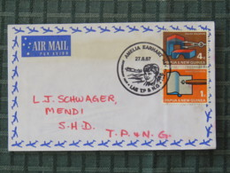 Papua New Guinea 1967 Special Amelia Earhart Plane Cancel On Cover To Mendi - Higher Education - Fine Arts - Engineering - Papouasie-Nouvelle-Guinée