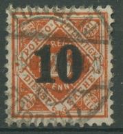 Württemberg Dienstmarken 1923 Mit Aufdruck 186 Gestempelt - Wuerttemberg