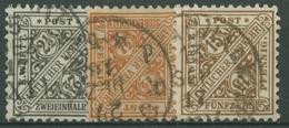 Württemberg Dienstmarken 1916 Ziffer In Schildern 237/39 Gestempelt - Wuerttemberg