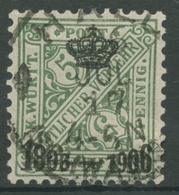 Württemberg Dienstmarken 1906 100 Jahre Königreich Württemberg 219 Gestempelt - Wuerttemberg