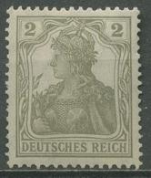 Deutsches Reich 1918 Germania Mit Weißer Friedensgummierung 102 X Postfrisch - Ungebraucht