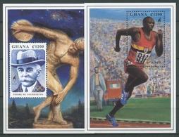 Ghana 1995 Olympische Sommerspiele Atlanta Block 275/76 Postfrisch (C28026) - Ghana (1957-...)
