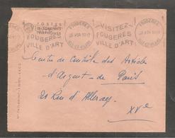 Enveloppe  Oblit  FOUGERES   ILLE ET VILAINE  1954 - Non Classificati