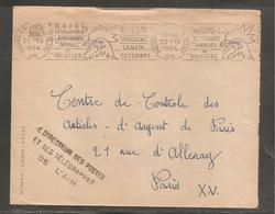 Enveloppe  Oblit  BOURG EN BRESSE 1954 / Concours De Volailles /coq / Directeur Postes De L 'ain - Non Classificati