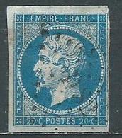 Timbre Napoleon III  1854 Yvt 14A - 1853-1860 Napoleone III