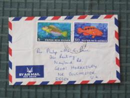 Papua New Guinea 1978 Cover To England - Fishes - Papúa Nueva Guinea