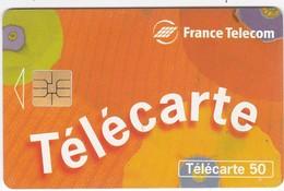 """TC066 TÉLÉCARTE 120 - INSCRIPTION """"TÉLÉCARTE"""" SUR FOND D'ART / DÉCO ORANGE - Telecom Operators"""