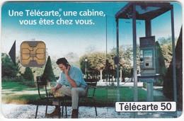 """TC068 TÉLÉCARTE 50 - """"UNE TÉLÉCARTE, UNE CABINE, VOUS ÊTES CHEZ VOUS"""" - PARTIE D'ÉCHEC PAR TÉLÉPHONE DANS UN PARC - Telecom Operators"""