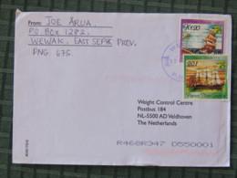 Papua New Guinea 2001 Cover Wewak To Holland - Ships - Papúa Nueva Guinea