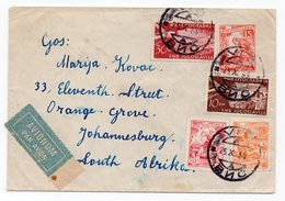 1955 YUGOSLAVIA, CROATIA, ISLAND VIS TO JOHANNESBURG, SOUTH AFRICA, STATIONERY COVER, AIR MAIL - Postal Stationery
