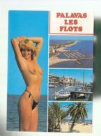 CP (34) Palavas-les-Flots  -  Femme Seins Nus - Palavas Les Flots