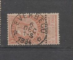 COB 57 Oblitération Centrale Relais étoile EVERBECQ - 1893-1800 Fijne Baard