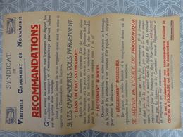 AFFICHE SYNDICAT DU VERITABLE CAMEMBERT DE NORMANDIE CONSEILS D'UTILISATION 1930 PAPIER - Non Classificati