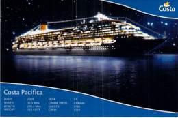PAQUEBOT De CROISIERE - COSTA PACIFICA (Costa Crociere Italie / USA ) CPM GF - Liner Cruise Ship Kreuzfahrtschiff - Piroscafi