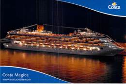 PAQUEBOT De CROISIERE - COSTA MAGICA 2/2 (Costa Crociere Italie / USA ) CPM GF - Liner Cruise Ship Kreuzfahrtschiff - Steamers