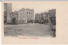 Cpa.43.St Pal De Mons.1905.La Place De L'Eglise.animé Personnages Cafe Teyssier - Altri Comuni