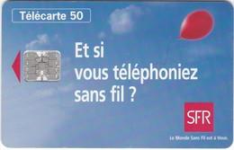"""TC080 TÉLÉCARTE 50 - SFR - """"ET SI VOUS TÉLÉPHONIEZ SANS FIL ?"""" - Telecom Operators"""