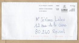Enveloppe Pic De Mauguio-(Carnon 34) Languedoc Aéroport Montpellier Méditerranée 05-08-2019 - Marcophilie (Lettres)