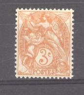 France  :  Yv  109c  *   Type II - 1900-29 Blanc
