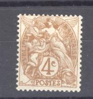 France  :  Yv  110  *   Type I - 1900-29 Blanc