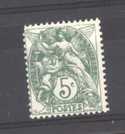France  :  Yv  111  **   Type IIA  ,  Vert - 1900-29 Blanc