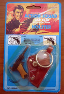 ACTION SQUAD SOLID DIE CAST METAL CAP GUN WITH KEY CHAN HOLSTER  BLISTER - Giocattoli Antichi