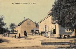 Frasne Canton Levier Hôtel De La Gare 86 Faivre Locca Toilée Colorisée - Autres Communes
