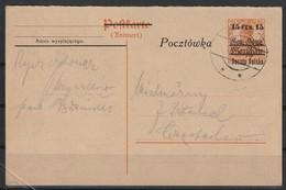 Polen, P 3 II A O (Urkarte Bes. WK I, GG, P 7A) (1956) - 1919-1939 Republik