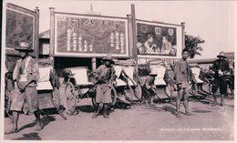 Chine Shanghai, Street Rickshaws (1452) Trace De Collage Au Dos - China