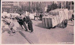 Chine Shanghai, Cart Drivers (1451) Trace De Collage Au Dos - China