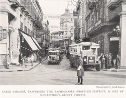 URUGUAY MONTEVIDEO Rue Sarandi Bus   Document Original Américain De 1931 - Non Classificati