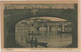 W4352 Firenze - Il Ponte Vecchio Da Un Arco Del Ponte Santissima Trinità - Fiume Arno / Non Viaggiata - Firenze