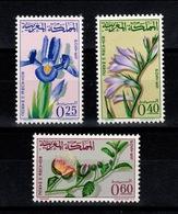 Maroc - YV 480 à 482 N** Fleurs - Marruecos (1956-...)