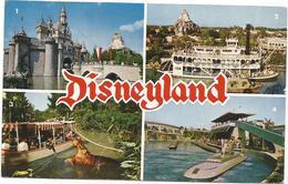 W4355 Disneyland - Sleeping Beauty's Castle - Mark Twain - Jungle Cruise - Submarine Ride / Viaggiata 1962 - Disneyland